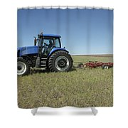 Nebraska Farming Shower Curtain