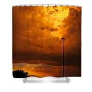 Nebraska Fire Shower Curtain