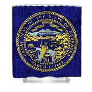 Nebraska Flag Shower Curtain by World Art Prints And Designs