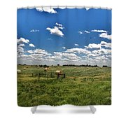 Nebraska Hay Baling Shower Curtain
