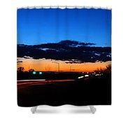 Nebraska Highway Sunset Shower Curtain
