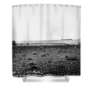 Nebraska Railroad Trestle Shower Curtain