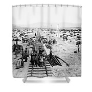 Nebraska Railroad Work Shower Curtain