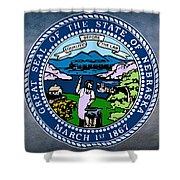 Nebraska State Seal Shower Curtain