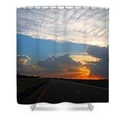 Nebraska Sunset Shower Curtain