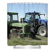 Nebraska Then And Now Shower Curtain