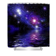 Nebula Reflection Shower Curtain