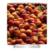 Nectarines For Sale At Weekly Market Shower Curtain