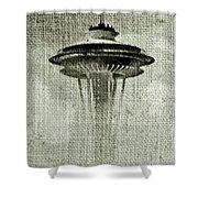 Needle On Canvas Shower Curtain