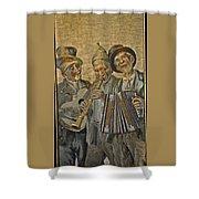 Needlepainting Musicians Shower Curtain