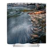 Needles In Motion Shower Curtain