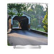 Neff's Mill Covered Bridge Lancaster County Shower Curtain