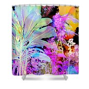 Negative Plants Shower Curtain