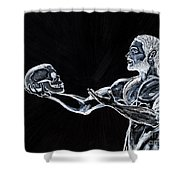 Negative Thoughts Shower Curtain by Edward Fuller