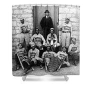 Negro Baseball Shower Curtain