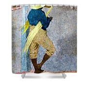 Negro Man Stripping Cane Jamaica Shower Curtain