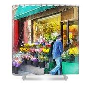 Neighborhood Flower Shop Shower Curtain