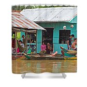 Neighbors On The River Shower Curtain