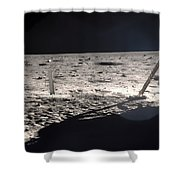 Neil Armstrong On The Moon - 1969 Shower Curtain