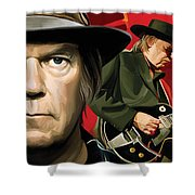 Neil Young Artwork Shower Curtain