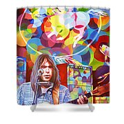Neil Young-crazy Horse Shower Curtain