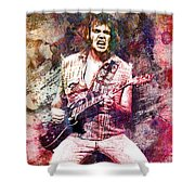 Neil Young Original Painting Print Shower Curtain