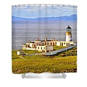 Neist Point Lighthouse Isle Of Skye Shower Curtain