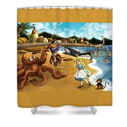 Nellie The Octopus Shower Curtain