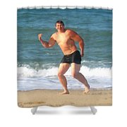 Nels Nilson At The Beach Shower Curtain