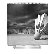 Nelson Akins Art Museum In Infrared Shower Curtain