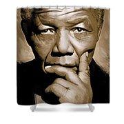 Nelson Mandela Artwork Shower Curtain