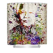 Nelson Mandela In Color Shower Curtain