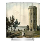 Nelsons Tower, Forres, From A Voyage Shower Curtain