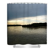 Nenana River Shower Curtain