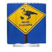 Nene Crossing Sign Haleakala National Park Shower Curtain