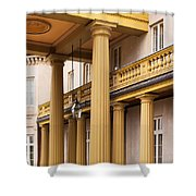 Neo Classical Columns Shower Curtain by Barbara McMahon