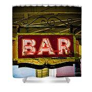 Neon Bar Shower Curtain