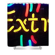 Neon Beer Sign - Extra Shower Curtain