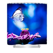 Neon Butterfly Shower Curtain