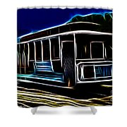 Neon Cable Car Shower Curtain