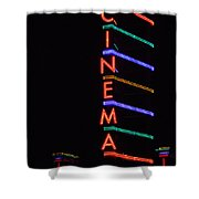 Neon Cinema Shower Curtain
