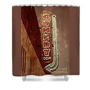 Neon Comedy Sign Shower Curtain