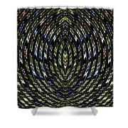 Neon Curves Shower Curtain