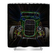 Neon Deuce Coupe Shower Curtain