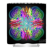 Neon Dreams Shower Curtain