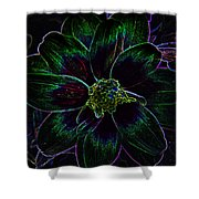 Neon Glow Shower Curtain