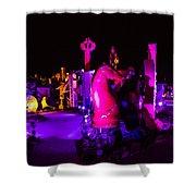 Neon Landscape Shower Curtain