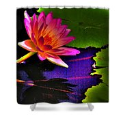 Neon Lily Shower Curtain