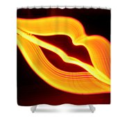 Neon Lips Shower Curtain