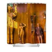 Neon Mannequin Shower Curtain